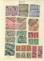 BELGIUM Stamps on Page Nice selection of Railway parcel stamped PAIRS up to 10f