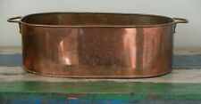More details for large victorian/edwardian copper planter with handles