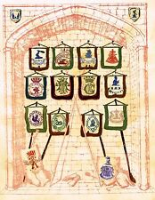 """One of a Kind Print from """"BERTIE GRAY- BOOK OF CRESTS"""" - H.M.S. WARRIOR - c1850"""