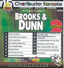 Chartbuster Karaoke Artist Series CD+G #9252 Brooks & Dunn v2 15 Song karoke cdg