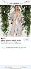 Maurie & Eve Leonardo Trench Coat 8 EUC