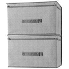 Foldable Storage Bins 2 Pack Storage Boxes w/ Handles Collapsible Organizer Box