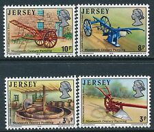 1975 JERSEY FARMING SET OF 4 FINE MINT MNH/MUH