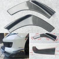 2x Winglet Style Car Front Bumper Lip Diffuser Spiltter Shark Fin Spoiler Custom