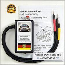 Mercedes OBD1 Diagnostic code reader R129 W140 500E W124 SL600 SL320 SL500 S320