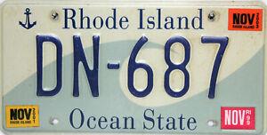 Rhode Island Licencia Plate, Original Matrícula Ee.uu. DN-687 Originalbild