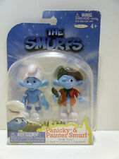 Jakks Pacific 2011 The Smurfs movie Grab Ems 2 Pack Panicky and Painter MOC