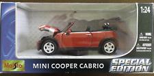 Vintage 2003 Maisto MINI COOPER CABRIO Special Edition - (RED) 1:24 / NIB