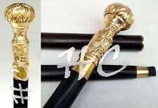 Victorian Style Brass Handle Designer Wooden Walking Stick Cane Handmade gift