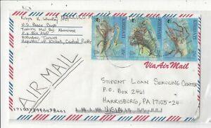 Kiribati 1998 Cover to US, WWF Lobsters x 3