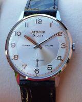 Vintage watch Cronometre ATOMIK DE LUXE  1950 NOS  similar Zenith/omega/longines