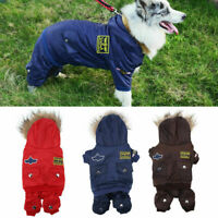Waterproof Winter Pet Dog Cat Hoodie Jacket Puppy Warm Coat Jumpsuit Clothes