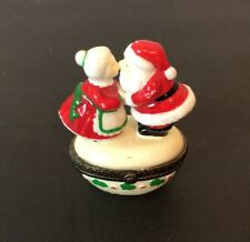 Misses And Mr Clause Trinket Jar 2 1/2� Small Santa Midwest