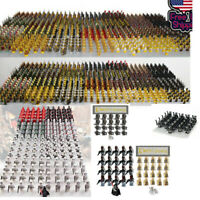 21pcs CUSTOM Knight Minifigures Military Army Soldier Figure Minifigure Blocks