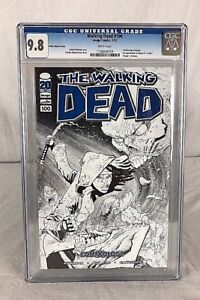 The Walking Dead #100 Comic 2012 Ottley Sketch ComiXology Variant Cover CGC 9.8
