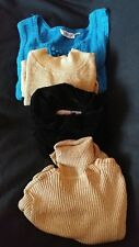 Ladies Group lot of 4 gently used sleeveless long sleeve Fall Winter tops Size S