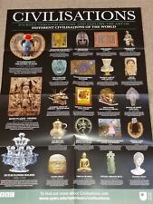 Bbc - History of Civilizations - Large Double-Side Poster 23' x 33' New