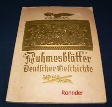 Ruhmesblätter Deutscher Geschichte 1933 -  Sammelbilderalben - Vollständig -
