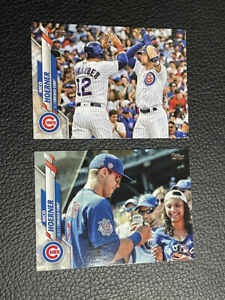 Nico Hoerner Topps Series 1 + Update Photo Variation Rookie Cubs RC 2 Card Lot