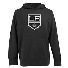 NWT Antigua Men's Los Angeles Kings Hooded Applique Black Pullover Sweatshirt M