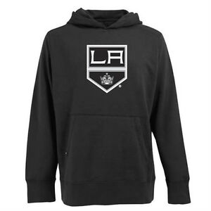 NWT Antigua Men's Los Angeles Kings Hooded Applique Black Pullover Sweatshirt XL