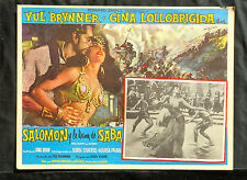 """SOLOMON AND SHEBA"" GINA LOLOBRIGIDA YUL BRYNNER ORIGINAL LOBBY CARD SET 1959"