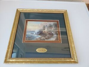 """Thomas Kinkade Collectors Society 1998 Framed Picture """"Let Your Light Shine"""""""