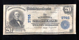 RARE $20 LARGE NOTE NATIONAL BANK OF TEXARKANA, TX SERIES 1902 CHARTER #3785