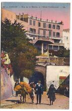tanger , rue de la marine et l'hotel continental