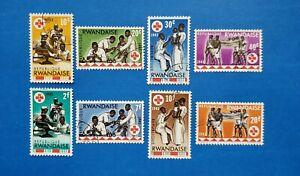 Rwanda Stamps, Scott 44-51