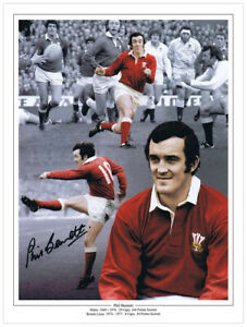ME-RUG-006 - HAND SIGNED 16x12 MONTAGE EDITION RUGBY PHIL BENNETT