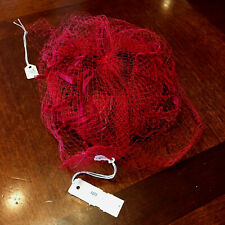 Collectable Red Netting Ladies Antique Vintage Hat