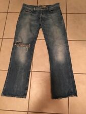 Energie  Jeans Mens Straight Morris Distressed Sz 34 X 32