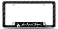 Los Angeles Dodgers Chrome License Plate Frame Metal Tag Cover Carbon Fiber