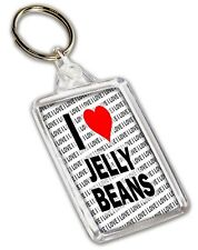 I Love Jelly Beans Keyring - Gift - Birthday - Christmas - Stocking Filler