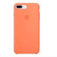 iPhone 8 / 7 PLUS Apple Original Echt Silikon Schutz Hülle - Pfirsich