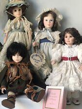 Lot Of 4 Vintage Dolls w/tags by Robin Woods, Sonja Bryer, Jan Hagara Effanbee