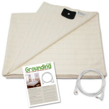 Grounding Brand Half Sheet with Earthing Connection Cable - White, Tan, or Grey