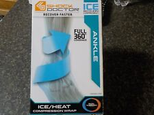 Shock Doctor Ice/Heat Recovery Compression Ankle Wrap Black L/XL
