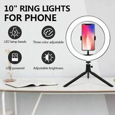 "Anillo de luz LED PARA SELFIE uflizogh 10"" con soporte para teléfono De Escritorio Trípode Soporte & Maquillaje"