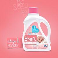 Dreft Stage 1: Newborn Liquid Laundry Detergent HE 50 Fl Oz 32 Loads 2 Count