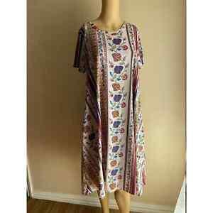 LuLaRoe Floral Printed Dress M