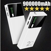 2020 New Portable Power Bank 900000mAh 2USB External Backup Battery Pack Charger