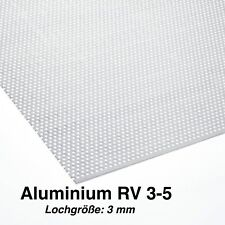 250 x 350 mm B/&T Metall Aluminium Lochblech 2,0 mm stark Rundlochung /Ø 8 mm versetzt RV 8-12 Gr/ö/ße 25 x 35 cm