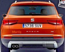 Seat ATECA SUV 2016- CHROME Rear Trim Strip Trunk Tuning Tailgate 3M Garnish