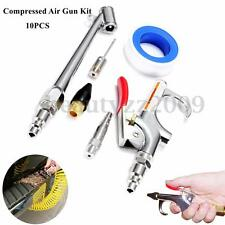 10pc Compressor Air Duster Compressed Nozzle Blow Gun Cleaning Kit Blower Tool