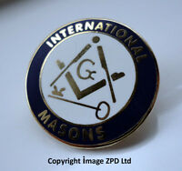 ZP276 International Freemason lapel pin badge G Geometry Square Compass Key