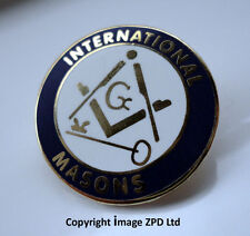 ZP276 International Freemason lapel pin badge G Geometry Square Compass Key