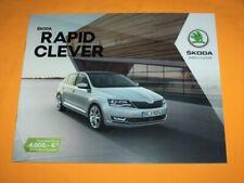 Skoda Rapid Clever Prospekt Brochure Depliant Catalog Prospetto Каталог