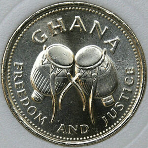 1996 Ghana 500 CEDIS KM# 34 MS63 Nickel-Brass coin [021219]